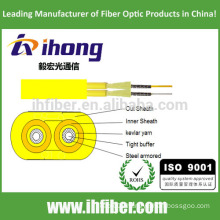 optical fiber Flat Twin Duplex Military Tactical Armored Indoor Cable