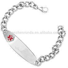 Homens ID pulseira de aço inoxidável venda quente 2015