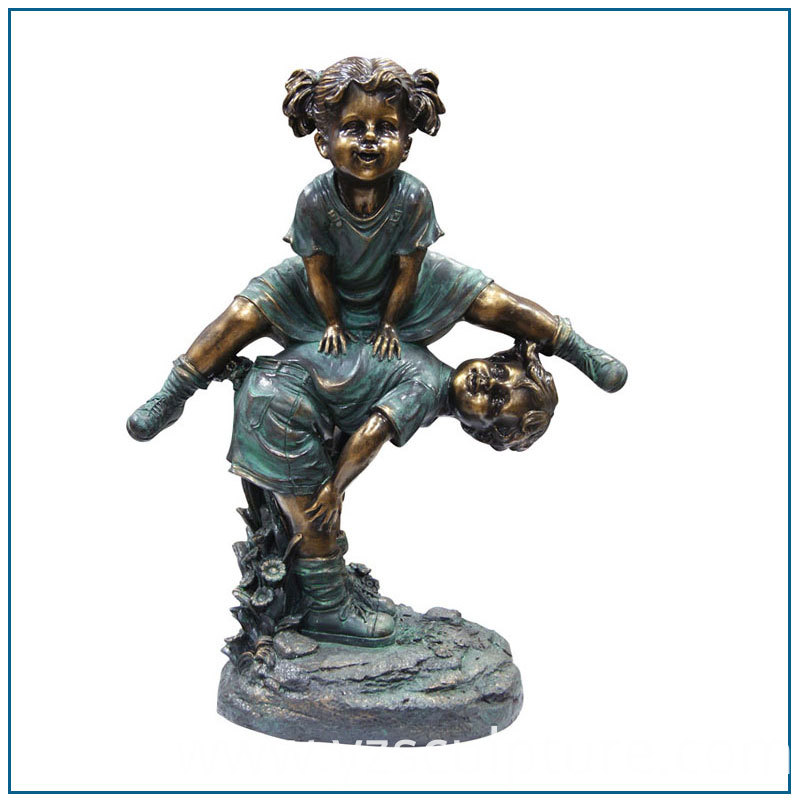Bronze Children Statue