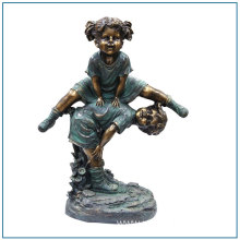 Garden Decoration Bronze Children Statue Girl Statue