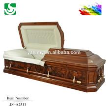 Chocolate color buff interior Carve casket