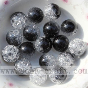 China wholesale accessory round acrylic crackle beads