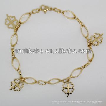2013 joyería de la pulsera de las mujeres del acero inoxidable de la forma 316L de la flor de la moda