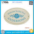 Custom DIY Yourself Wholesale Ceramic Garden Doorplate
