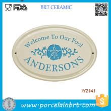 Custom DIY Yourself Wholesale Garden Doorplate de cerámica