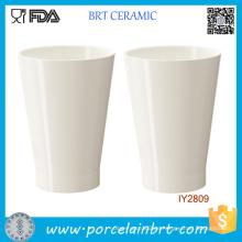 Benutzerdefinierte Großhandel weiße Keramik Pflanzer Topf