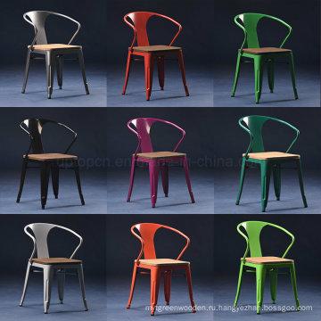 Ресторан кафе использовали деревянные tolix стула сиденье кресло (СП-MC039W)