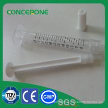 Seringue femelle orale cosmétique 1ml de serrure de Luer avec le matériel de pp