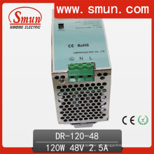 Carril DIN 120W Fuente de alimentación 120W Salida individual Dr-120-48