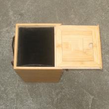 Boîte à vin à couvercle coulissant en bambou simple