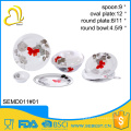 quality assurance plastic ODM custom made dinnerware sets