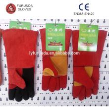 Kuhspaltleder Langarm-Handschuhe für Schweißer, Leder-Schweißhandschuhe