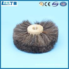 escova de cerdas de metal antiestática para remoção de poeira
