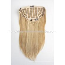 clipe de uma peça em extensões de cabelo humano