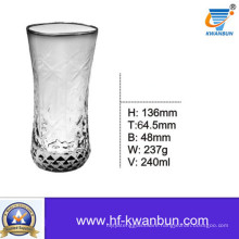 Glass Cup with Grid Outside Glassware Kb-Hn0352