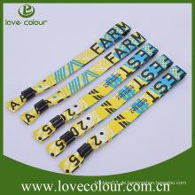 Günstige gewebte Armbänder mit benutzerdefiniertem Logo