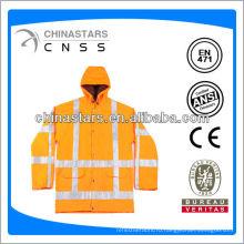 Оранжевый плащ EN471 / ANSI с высокой видимостью