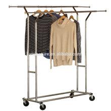 estante de sequía elegante de alta calidad de la ropa, displan de las telas en supermercado