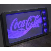 Benutzerdefinierte Acryl Coca Cola Bar Zeichen