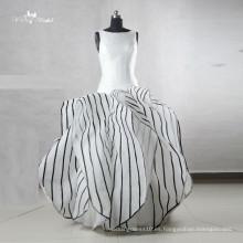 Vestido personalizado de la raya de 2016 Customized de la manera de Alibaba de la más nueva manera del vestido del estilo