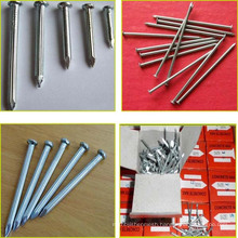 Hot selling low price galvanized concrete steel nail size with smooth shank