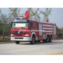 6 * 4 unidad Sinotruk HOWO Fire truck / Fire engine / Powder camión de bomberos con 10T de agua y 2-4T en polvo