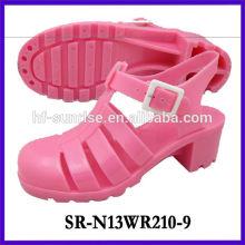 SR-N13WR210-9 (2) sandales à talons hauts chaussures sandales pvc sandales chaussures en plastique sandales grossistes sandales à la gelée