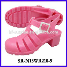 SR-N13WR210-9 (2)high heel jelly sandals ladies pvc sandals plastic shoes sandals wholesale jelly sandals