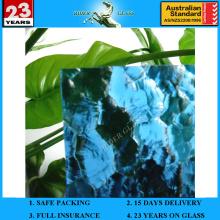 3-8mm blaues ozeanisches gemustertes Glas mit AS / NZS2208: 1996