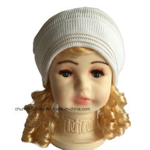 Nuevos niños encantadores y algodón de las mujeres sombrero de acrílico de la gorrita tejida con Earflap y forro del paño grueso y suave