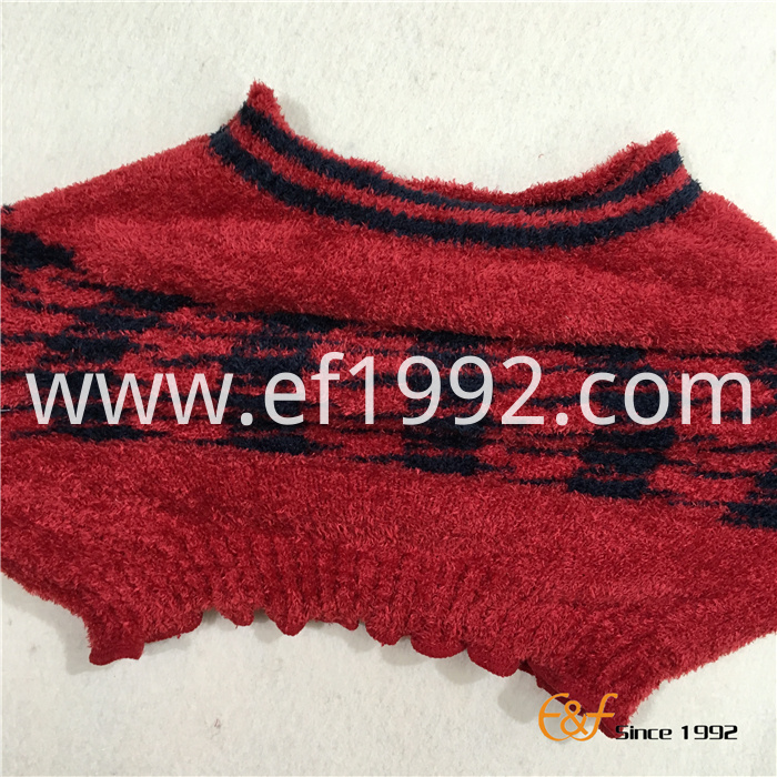 Feather Yarn Clascial Pattern Knitted Elastic Haramaki