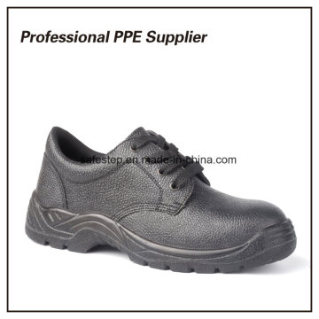 Genuine Leather Black Cheap Safety Shoes