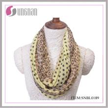 2016 мода Леопардовый узор сексуальный женщины бесконечности шарф (SNBL0189)