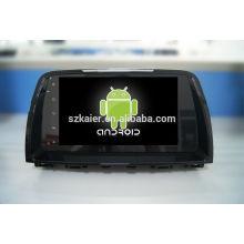 Quatro núcleos! Android 4.4 / 5.1 carro dvd para MAZDA 6 2015 com tela sensível ao toque / GPS / Link espelho / DVR / TPMS / OBD2 / WIFI / 4G