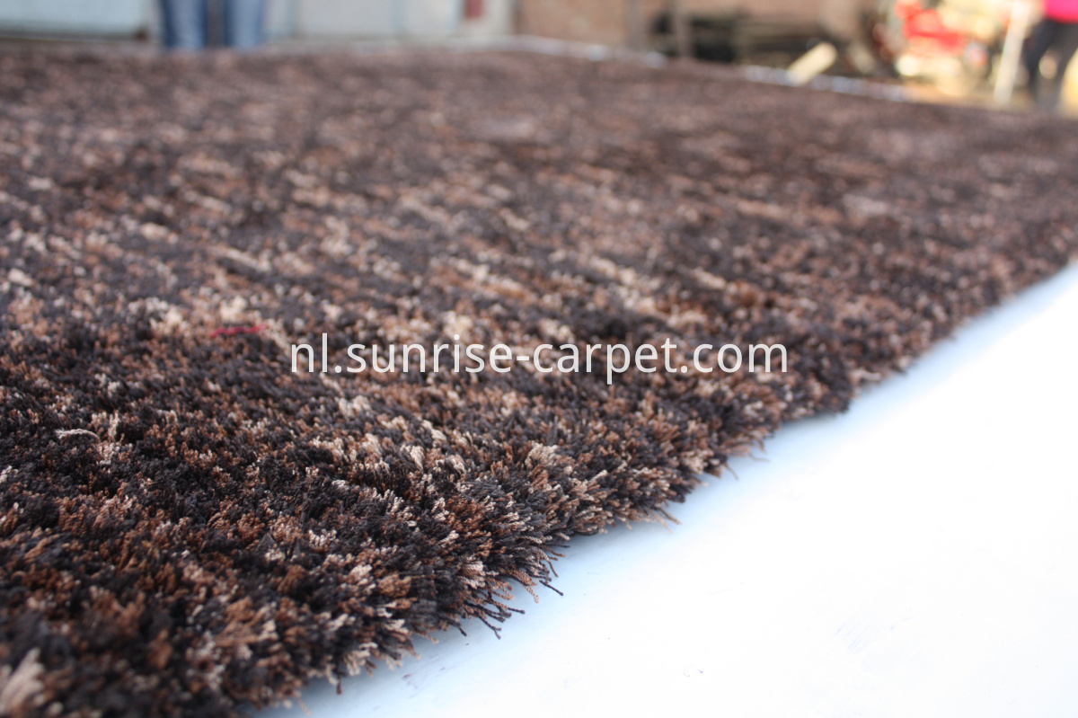 microfiber shag thin yarn coffee