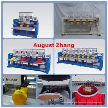 ELUCKY Tajima Tipo Comercial 15 cores 8 Cabeça computadorizada Máquina de bordar Similar a Tajima