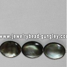 perles de coquillage de mer forme ovale