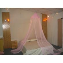 Polo de fibra en la cama de tamaño superior cama de mosquito