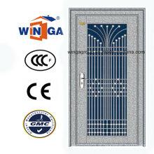 Nizza Design Edelstahl Außenseite Sicherheitstür (W-GH-09)