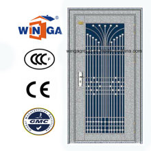Puerta de la seguridad del exterior del acero inoxidable del diseño agradable (W-GH-09)