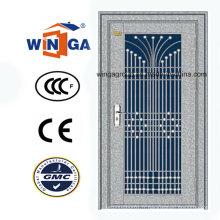Belle porte de sécurité extérieure en acier inoxydable de conception (W-GH-09)