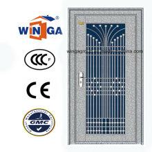 Nice Design Porta de segurança exterior de aço inoxidável (W-GH-09)