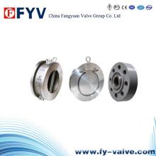 Válvula de retenção de balanço de disco único de wafer de aço inoxidável