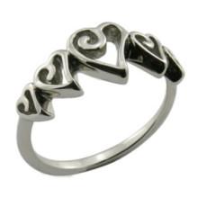 Moda Jóias Chic Clássica Prata Cristal Crown Ring Presente Jóias