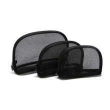 Beauty Cosmetic Makeup Bag Black Mesh 3 Maten