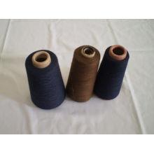 Ring Spun Polyester Dyed Yarn , High Tenacity Knitting Thread