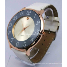 Leather Strap Alloy Watch (HAL-1242)