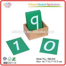 Montessori Sandpapier Hölzerne Zahlen Spielzeug mit Box
