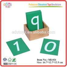 Montessori Sandpaper Wooden Numbers Toys with Box