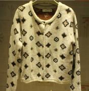 Dames acryl/Mohair/Polyester gebreide Jacquard Fashion Sweater